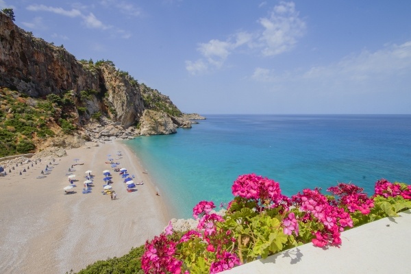 kira panagia beach on karpathos where car rented cars from manos can go